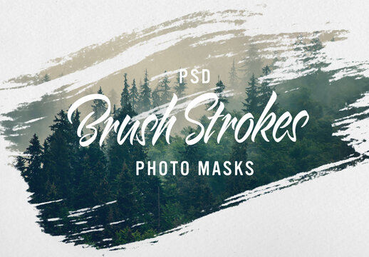 Image Design Brush Stroke masks
