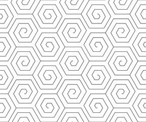 Vector geometric seamless pattern. Modern geometric background with hexagonal tiles.