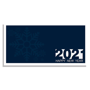 Banner of happy new year 2021 - Vector illustration