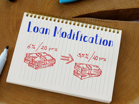 Loan Modification inscription on the page.