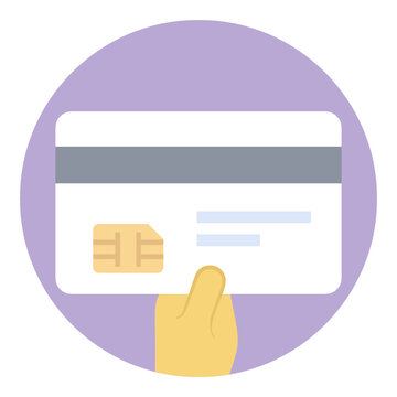 Digital payment, credit card flat icon