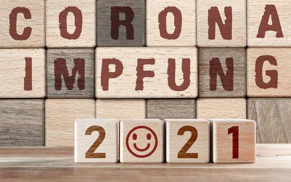 Corona Impfung im Jahre 2021 - Grund zur Freude, dass schön langsam alles besser wird - Konzept