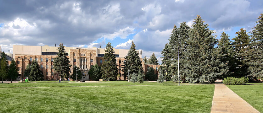 College of Arts and Science Building located on the campus of the University of Wyoming in Laramie, Wyoming, USA.