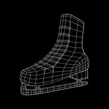 Classic ice figure skates sport equipment