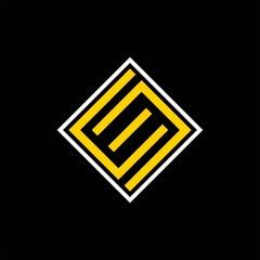 Fototapeta simple typography ce square vector logo obraz