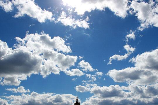 Fluffy clouds, it will rain soon
