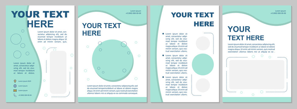 Creative simple brochure template in modern design. Multi purpose flyer, booklet, leaflet print, cover design with text space. Vector layouts for magazines, annual reports, advertising posters