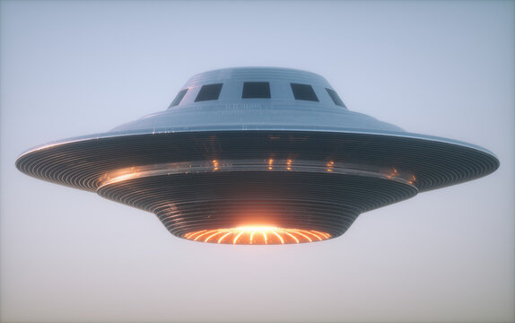UFO - Unidentified Flying Object with Clipping Path.