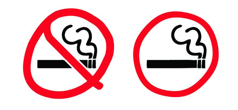 Stop do not smoke sign Smoke free zone including electronic cigarettes Forbidden no smoking Forbid cigarette tobacco area. Stop halt allowed, no ban. Flat vector signboard Stoptober No smoking day