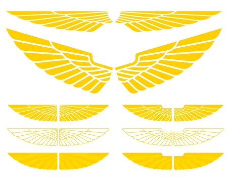 Military wings for logos or symbols.