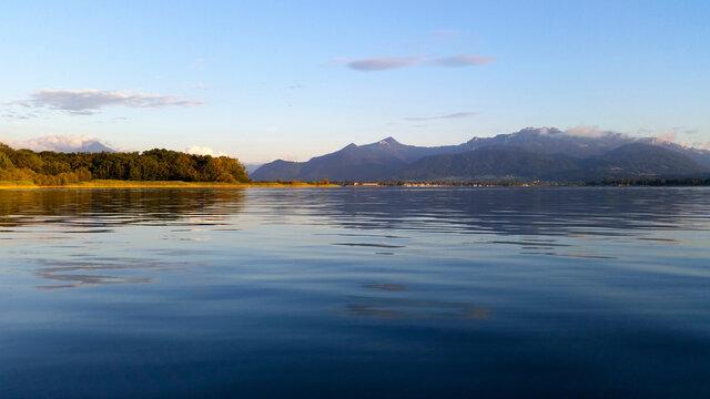 Lake Chiemsee in Bavaria, Germany