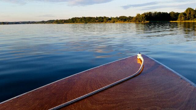 Steam boat at lake Chiemsee in Bavaria, Germany