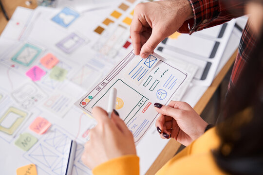 Designers working and designing a user interface
