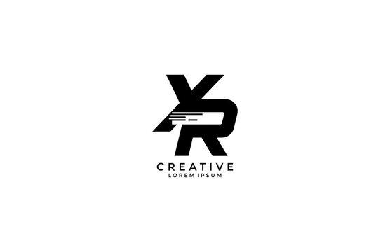Initial Letter XR Tech Sport Speed Style Logo Design Template