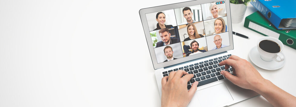 Video conference with multiple employees