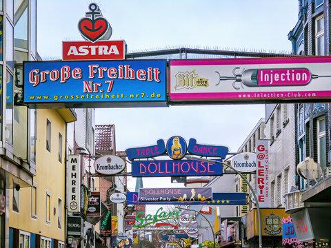 Hamburg, Reeperbahn Sankt Pauli 31.12.2009