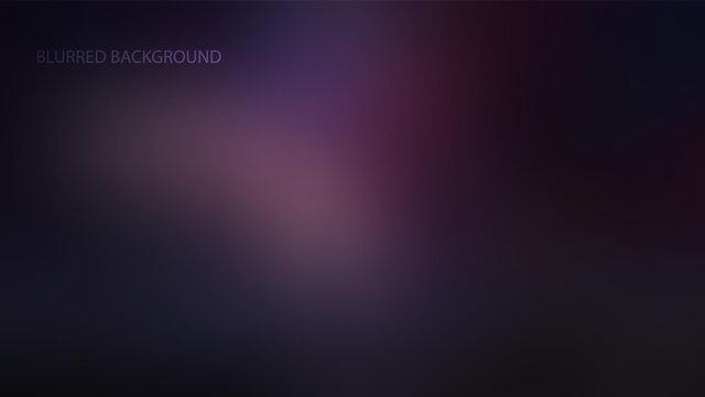 Purple, dark blurred background vector illustration