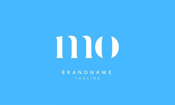 MO Lowercase Letter Initial Icon Logo Design Vector Illustration