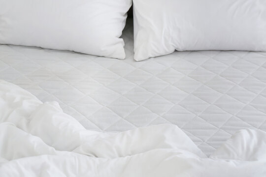 Modern orthopedic mattress with bedding