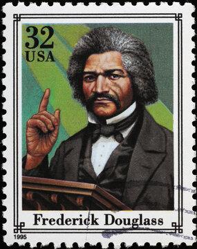 Frederick Douglass on american postage stamp