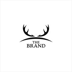 minimalist deer antler logo concept for hunting brands