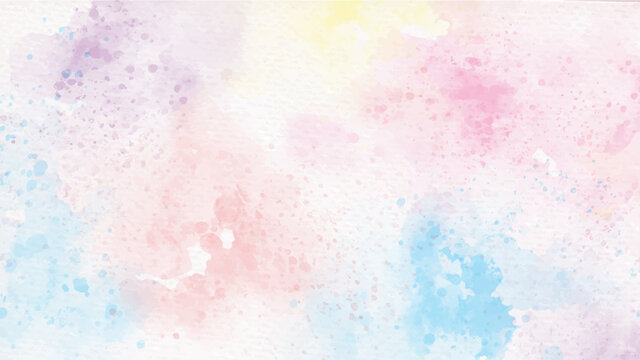 rainbow pastel unicorn candy watercolor on paper abstract background