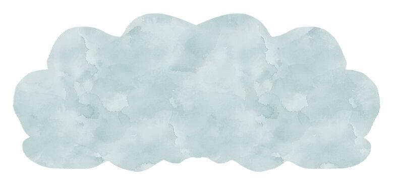 白色のモコモコの雲