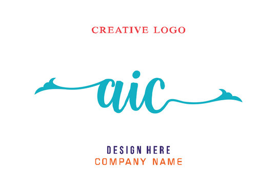 AIC lettering logo is simple, easy to understand and authoritative