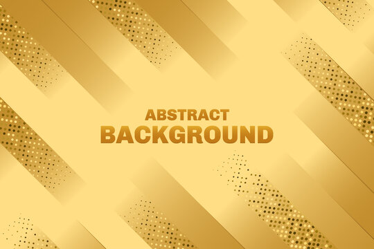 Abstract geometric line background with gold glitter effect
