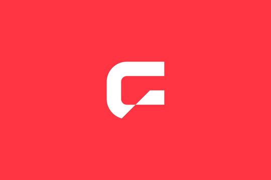 Minimal Modern Abstract Letter G Dark Background Logo Template