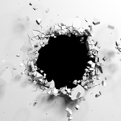 Obraz Exploding wall with free area on center - fototapety do salonu