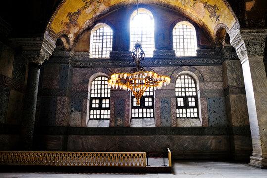 Lighting inside Ayasofia Istanbul, Turkey