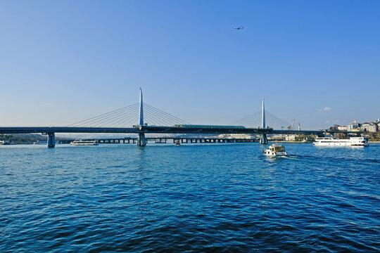 view on  Halic Metro Bridge, Istanbul