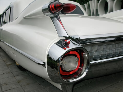close up on a classic car