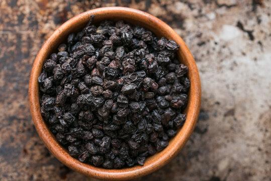 European Elderberries in a Bowl