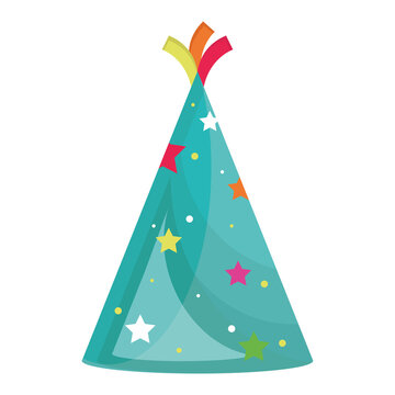 party hat cone happy birthday icon vector illustration design