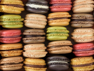 Multi colored macaroons