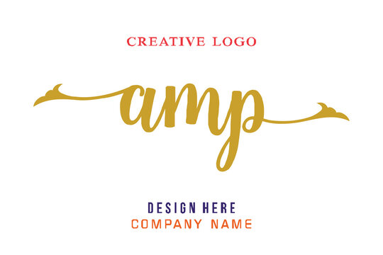 AMP lettering logo is simple, easy to understand and authoritative