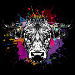 background with bull