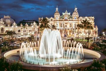 The Monte Carlo Casino, gambling and entertainment complex located in Monte Carlo, Monaco, Cote de Azul, France, Europe. Wall mural
