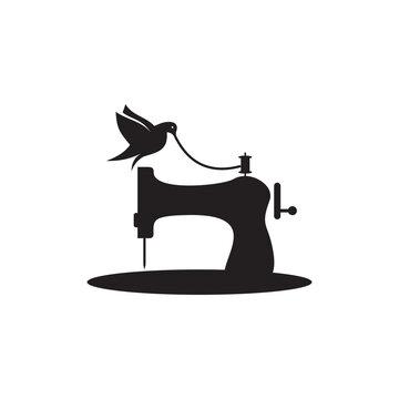 Sewing machine logo design template