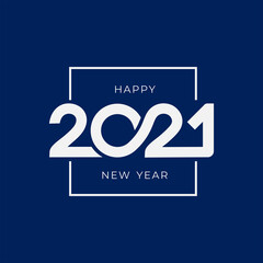 Fototapeta 2021 Happy New Year signs. Big collection of 2021 Happy New Year symbols. Greeting card artwork  brochure template. Vector illustration with black holiday labels