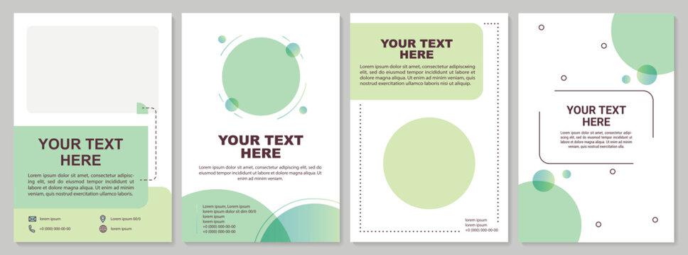 Minimalistic brochure template