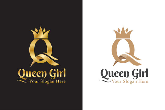 luxury initial letter Q for queen logo, logotype, symbol, icon
