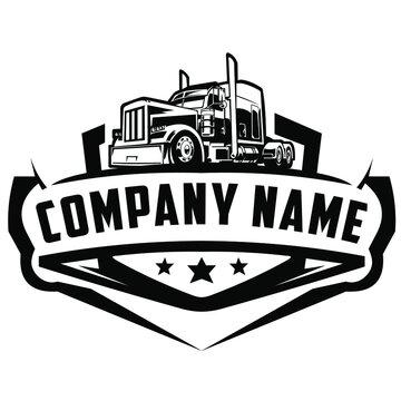 american truck logo on white background
