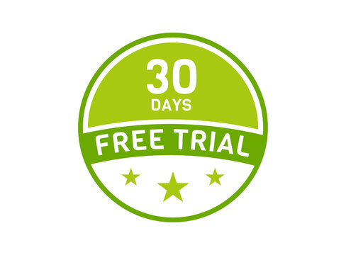 30 days free trial. 30 day Free trial badges