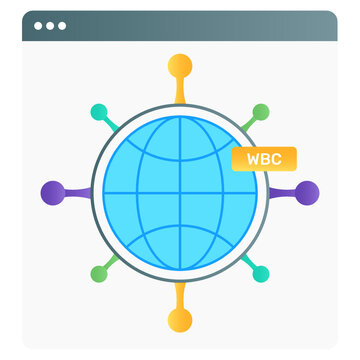 Flat gradient vector of semantic web, global connections