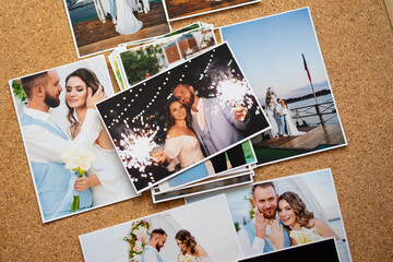 a printed copy of the wedding photos. the result of a photo session Wall mural