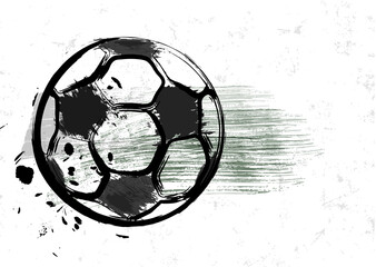 grunge soccer or football design template, mockup, for the great soccer event, free copy space, vector