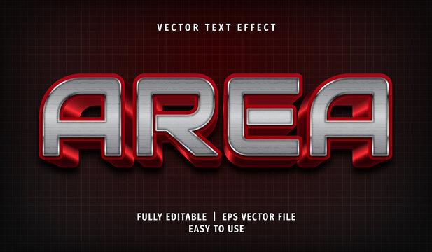 3D Area Text Effect, Editable Text Style
